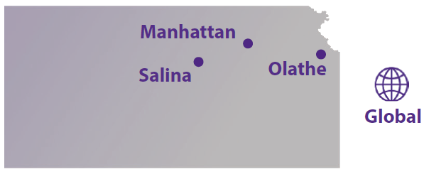 Map with KState locations
