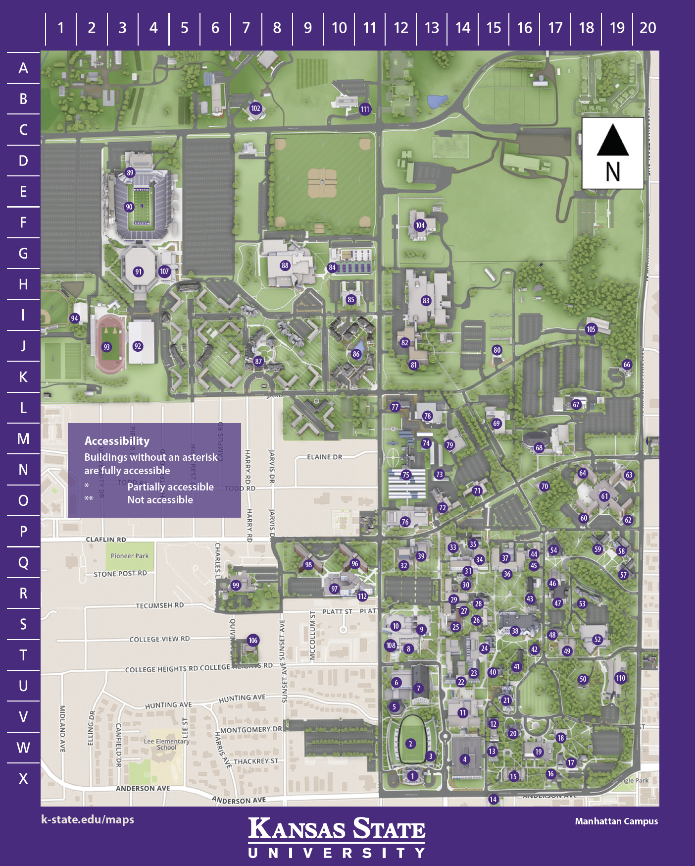 Campus Map | Kansas State Univeristy Visitors Guide